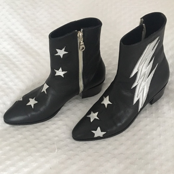 Modern Vice Shoes - Modern Vice thunder bolt custom boots made in NYC